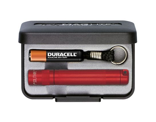 Maglite Solitaire Flashlight with Gift Box - Red Body
