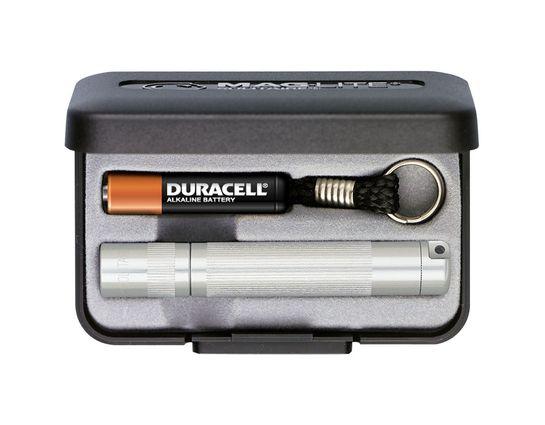Maglite Solitaire Flashlight in Gift Box - Silver Body