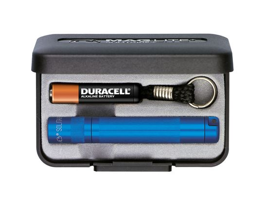 Maglite Solitaire Flashlight in Gift Box - Blue Body