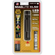 Maglite XL50 LED Flashlight, Black, 3 Selectable Modes, 104 Max Lumens