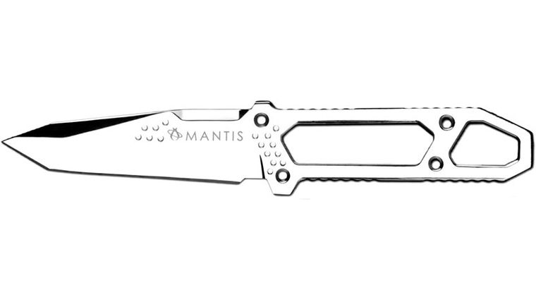 Mantis MF-1C Con Brillo Combat Knife 4-1/2 inch Mirror Polish Tanto Blade, Nylon Sheath