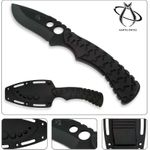 Mantis TA-2S Seymour Fixed 3 inch Serrated Skinner Blade, Tire Rubber Handles