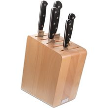 Maserin 2084/CLA Classic 6 Piece Kitchen Knife Stand Set, Black POM Handles