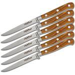 Maserin 2411/OL Coltello Maniago 6 Piece Steak Knife Set, Olive Wood Handles