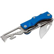 Maserin 564/G10B Citizen Multi-Tool Folding Knife 2.44 inch Satin Blade, Blue G10 Handles