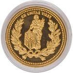 Marfione Custom Knives Custom 24K Gold Continental Medallion Challenge Coin