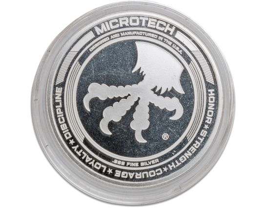 Microtech Knives Custom Antique 25th Anniversary .999 Fine Silver Challenge Coin