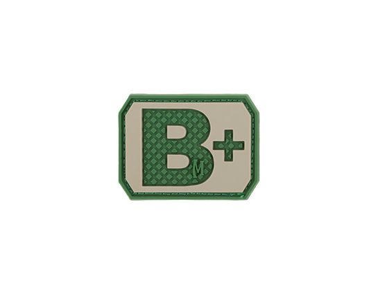 Maxpedition BTBPA PVC B+ Blood Type Patch, Arid