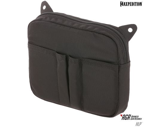 Maxpedition HLPBLK AGR Advanced Gear Research HLP Hook & Loop Pouch, Black