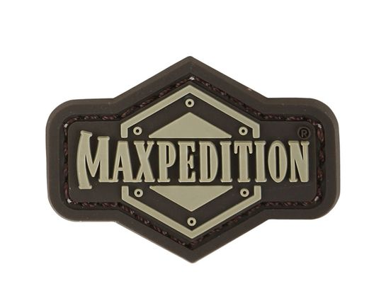 Maxpedition INGLA PVC 1 inch Full Logo Patch, Arid