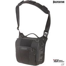 Maxpedition LCRBLK AGR Advanced Gear Research Lochspyr 5.5L Crossbody Shoulder Bag, Black