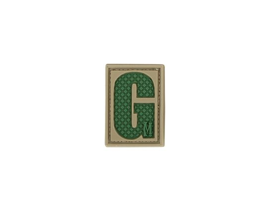 Maxpedition LETGA PVC Letter G Patch, Arid