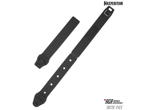Maxpedition PJC5BLK AGR Advanced Gear Research PJC5 TacTie Polymer Joining Clip, Pack of 6, Black