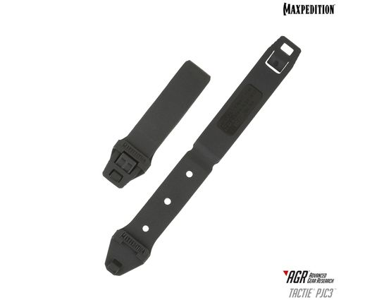Maxpedition PJC3BLK AGR Advanced Gear Research PJC3 TacTie Polymer Joining Clip, Pack of 6, Black