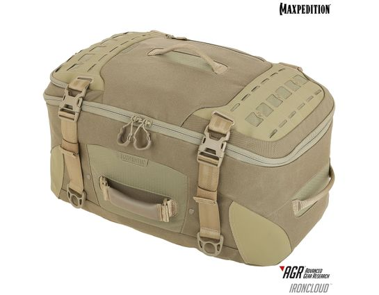 Maxpedition RCDGRY AGR Advanced Gear Research Ironcloud Adventure Travel Bag, Tan