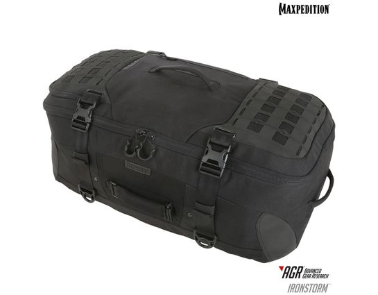 Maxpedition RSMBLK AGR Advanced Gear Research Ironstorm Adventure Travel Bag, Black