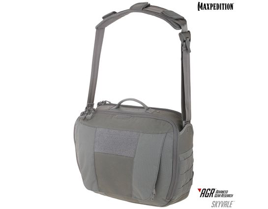 Maxpedition SKYGRY AGR Advanced Gear Research Skyvale 16L Tech Messenger Bag, Gray