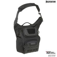 Maxpedition WLFBLK AGR Advanced Gear Research Wolfspur Crossbody Shoulder Bag, Black