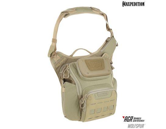 Maxpedition WLFTAN AGR Advanced Gear Research Wolfspur Crossbody Shoulder Bag, Tan