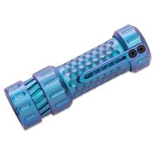 Mechforce Mechtorch EDC Flashlight Turbo, Blurple Anodized Titanium, 1300 Max Lumens