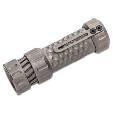 Mechforce Mechtorch EDC Flashlight Turbo, Stonewashed Titanium, 1300 Max Lumens
