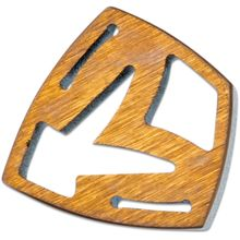 Medford Shield Titanium Crest Charm - Bronze