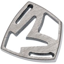 Medford Shield Titanium Crest Charm - Raw