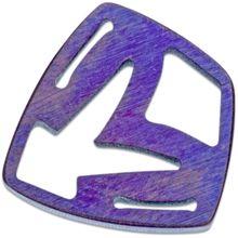 Medford Shield Titanium Crest Charm - Violet