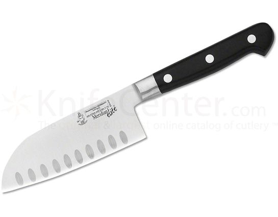 Messermeister  Meridian Elite 5 inch Granton Kullenschliff Santoku Knife