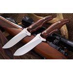 Mercworx Excorio 4 inch S30V Fixed Blade, Ironwood Handle with Sheath