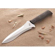 Mercworx Sniper Standard Combat Knife Double Edged 7.5 inch 154CM Blade, Micarta Handles, Kydex Sheath
