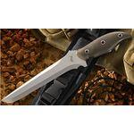 Mercworx TANTO Chili Pepper Handle 154CM  7.5 inch Double Edged Blade, Kydex Sheath