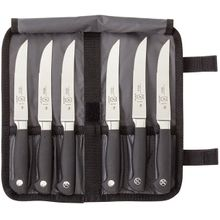 Mercer Cutlery Genesis 7 Piece Steak Knife Set, Includes Knife Roll
