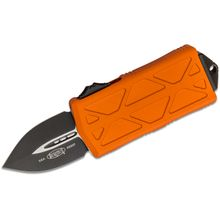 Microtech 157-1OR Exocet OTF Money Clip AUTO Knife 1.98 inch Black Double Edge Blade, Orange Aluminum Handles