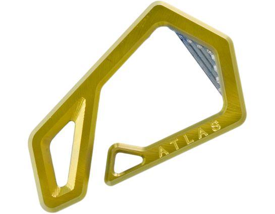 Jason Tietz Custom Atlas Key Hook, Gold Titanium, 2.46 inch Overall