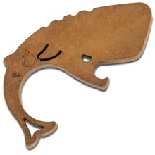 Moby Whalers 0.375 inch Thick Antiqued Bronze Moby Whaler V3 Bottle Opener