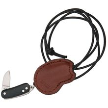 Moki TP-039M Colon Miniature Neck Knife 3/4 inch Blade, Black Micarta Handles