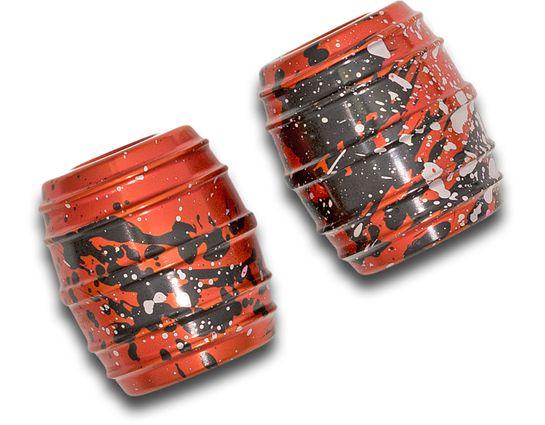 Monkey Fist Begleri KnifeCenter Exclusive Orange Splatter Aluminum Monkey Barrels Begleri