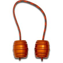 Monkey Fist Begleri KnifeCenter Exclusive Orange Aluminum Monkey Barrels Begleri