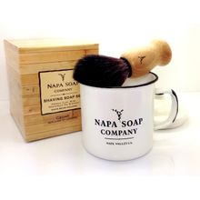 Napa Soap Company Enamel Shaving Soap Gift Set, Cool Mint
