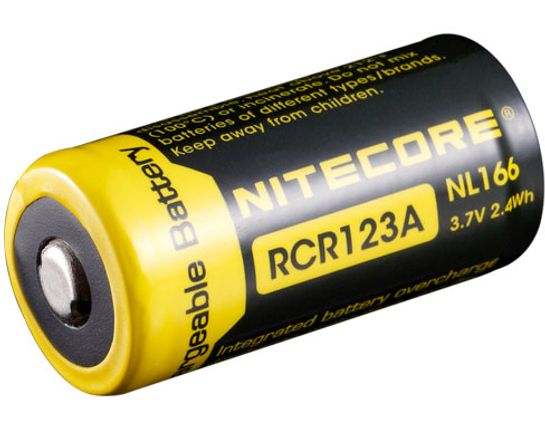 NITECORE NL166 RCR123A 16340 Rechargeable Lithium Battery