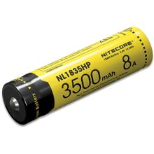 NITECORE NL1835HP High Performance 18650 Rechargeable Lithium Battery, 3500mAh