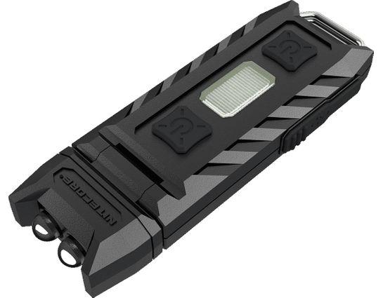 NITECORE Thumb Rechargeable Keychain LED Flashlight, Black, 85 Max Lumens
