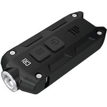 NITECORE T-Series CRI Tip Rechargeable Keychain LED Flashlight, Black, 240 Max Lumens