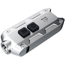 NITECORE T-Series Tip Rechargeable Keychain LED Flashlight, Silver, 360 Max Lumens