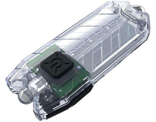 NITECORE Tube Rechargeable Keychain LED Flashlight, Clear, 45 Max Lumens