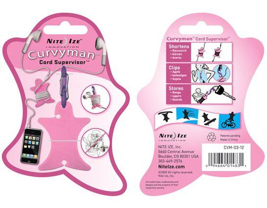 Nite Ize Curvyman Cord Supervisor, Pink (CVM-03-12)