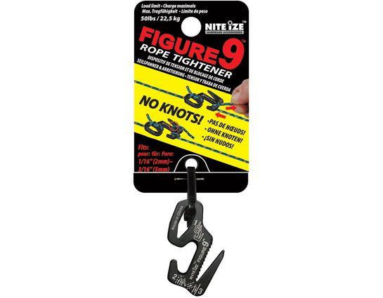 Nite Ize Figure 9 Small Rope Tightener, Black, Single Pack (F9S-02-01)