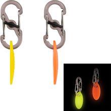Nite Ize NextGlo Glow-in-the-Dark Key ID Tags + S-Biners MicroLocks Combo Pack (2 sets)