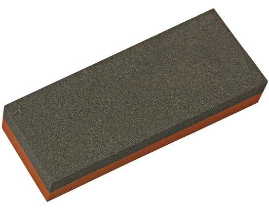 Norton India Aluminum Oxide Combination Grit Coarse/Fine Benchstone 5 inch x 2 inch x 0.75 inch